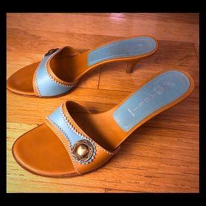 Vintage CASADEI Turquoise Sandals. Size 7.5.